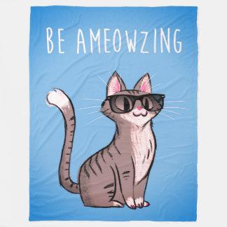 Be Ameowzing Fleece Blanket