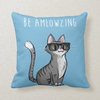 Be Ameowzing Throw Pillow