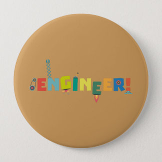Be an Engineer with Tools Z8c69 4 Inch Round Button
