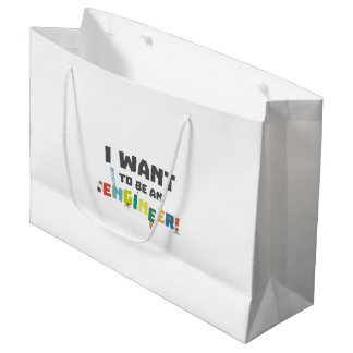 Be an Engineer Zf792 Large Gift Bag