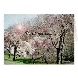 """""""Be at peace..."""" sympathy card"""