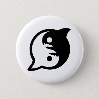 Be at Peace with the Sharks Pin Back Button