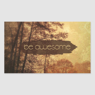 Be Awesome Rectangle Sticker