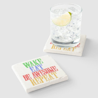 Be Awesome! Stone Coaster
