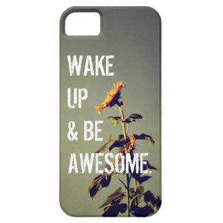 """""""Be Awesome"""" Sunflower iPhone 5 Case"""