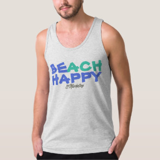 BE BEACH HAPPY tank summer sleeveless ocean unisex