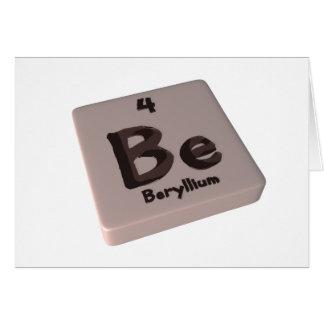 Be Beryllium Card