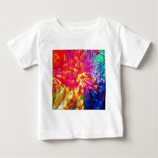 Be Bold, Colorful Rainbow Abstract Floral Painting Baby T-Shirt
