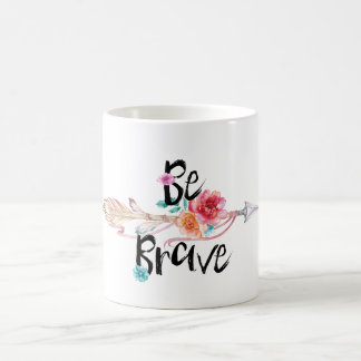 Be Brave Arrow with Flowers Coffee Mug