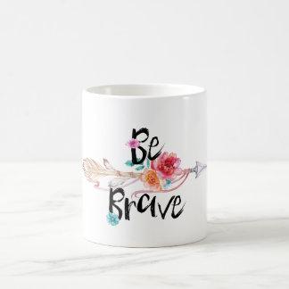 Be Brave Arrow with Flowers Coffee Mug