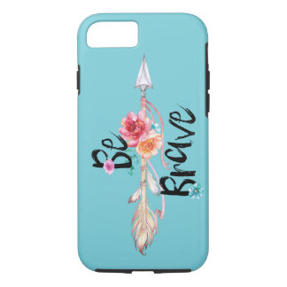 Be Brave Arrow with Flowers iPhone 8/7 Case