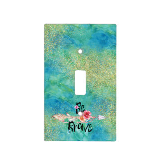 Be Brave Arrow with Flowers Light Switch Cover