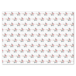 Be Brave Arrow with Flowers Tissue Paper