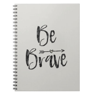 Be Brave Arrow with Heart Notebook