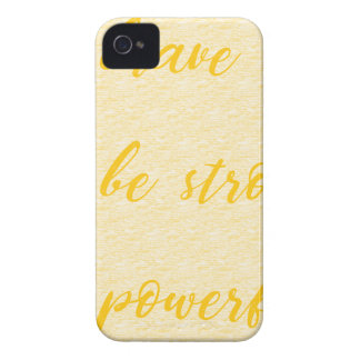 be brave be strong be powerful iPhone 4 Case-Mate case