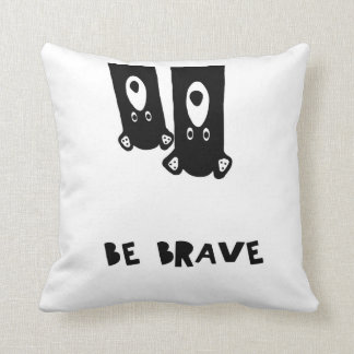 Be brave, bear, bear print, be brave, nursery, throw pillow
