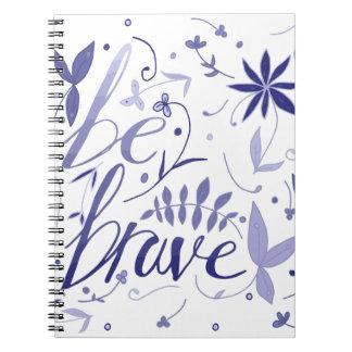Be Brave Blue Notebook