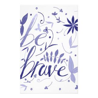 Be Brave Blue Stationery Design