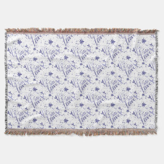 Be Brave Blue Throw Blanket