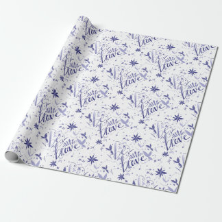 Be Brave Blue Wrapping Paper