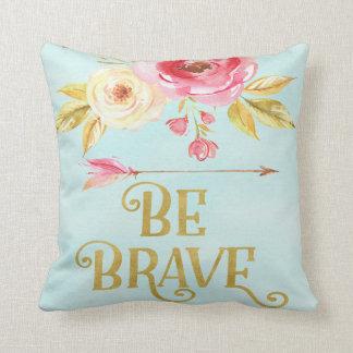 Be Brave Boho Floral Arrow Woodland Nursery Pillow