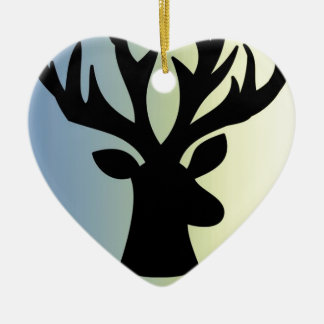 Be brave deer head shadow ceramic ornament