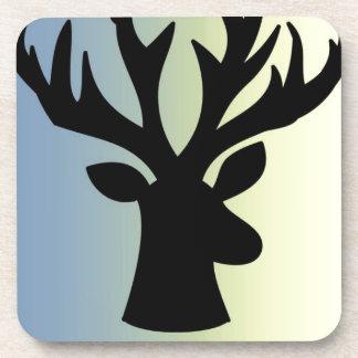 Be brave deer head shadow coaster
