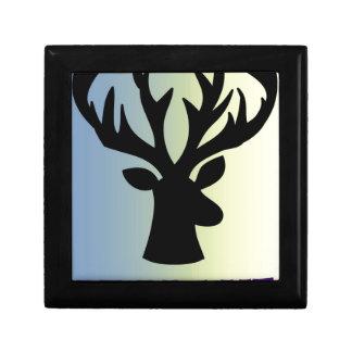 Be brave deer head shadow gift box