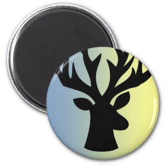 Be brave deer head shadow magnet