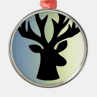 Be brave deer head shadow metal ornament