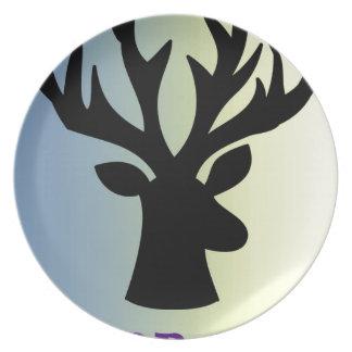 Be brave deer head shadow plate