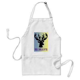 Be brave deer head shadow standard apron