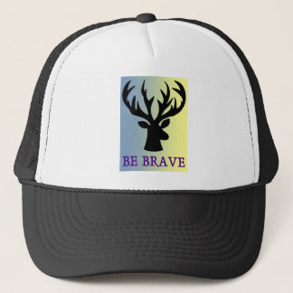 Be brave deer head shadow trucker hat