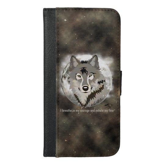Be brave iPhone 6/6s plus wallet case