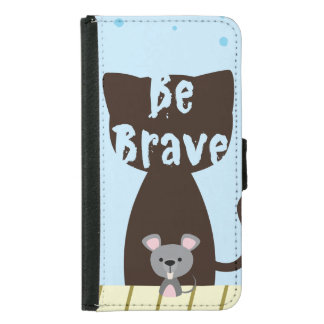 Be Brave Little Mouse Samsung Galaxy S5 Wallet Case
