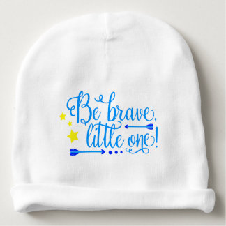 Be Brave Little One Baby Boy Boho Arrows and Stars Baby Beanie