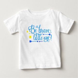 Be Brave Little One Baby Boy Boho Arrows and Stars Baby T-Shirt