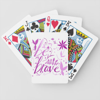be brave pink bicycle playing cards