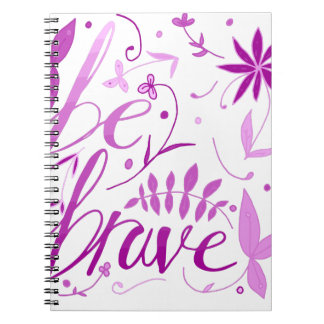 be brave pink notebook