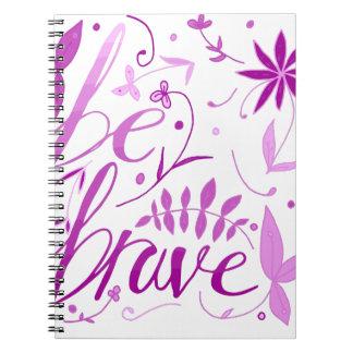 be brave pink notebooks