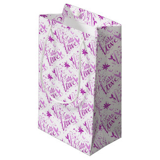 be brave pink small gift bag