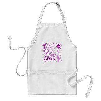 be brave pink standard apron