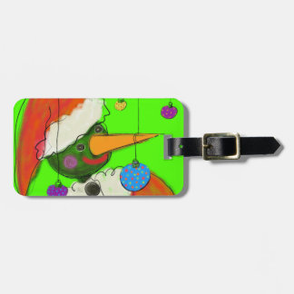 BE CAREFL OUT THERE Christmas luggage tag. Luggage Tag