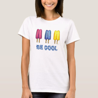 Be Cool Watercolor Popsicles Twin Pop Popsicle Tee