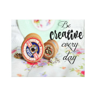 """Be creative every day"" Canvas Wall Art"