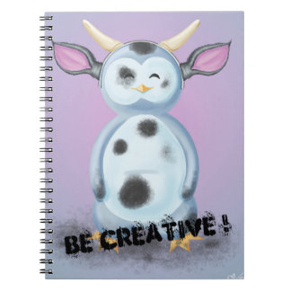 Be Creative! Puik-Puik is disguised in filthy cow Notebook