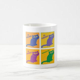 Be Curious Cat - Four Color Combo - LuvFurArt.com Coffee Mug