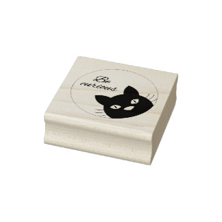 Be Curious Rubber Stamp