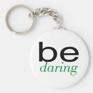 Be Daring Green Keychain