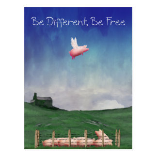 Be Different, Be Free Postcard